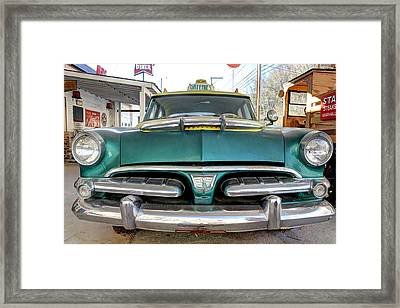 Fifty Six Dodge Vintage Antique Car Fifties Framed Print by Jane Linders