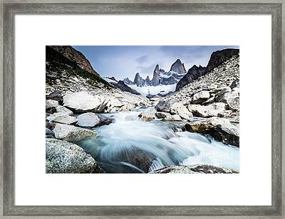 Fitz Roy On A Cloudy Day  Framed Print