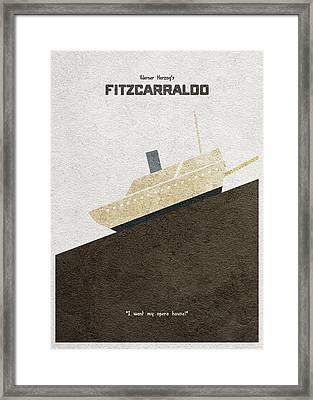 Fitzcarraldo Alternative Minimalist Poster Framed Print