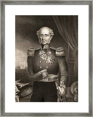 Fitzroy James Henry Somerset, 1st Baron Framed Print by Vintage Design Pics
