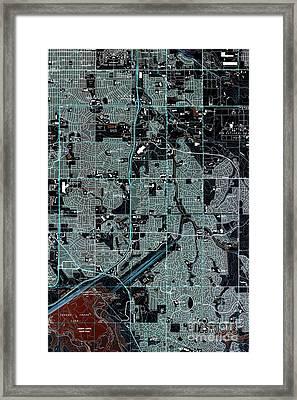 Fitzsimons Colorado 1965 Old Map Framed Print