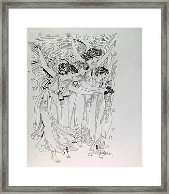 Five Angels Framed Print by Gabe Art Inc
