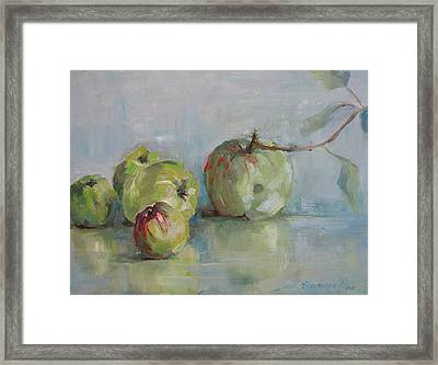 Five Apples Framed Print