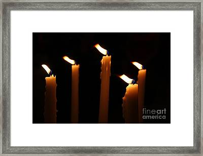 Five Candles Framed Print by Marina McLain