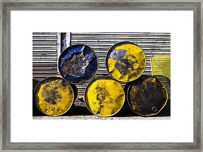 Five Circles Framed Print by Prakash Ghai