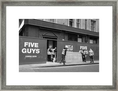 Five Guys Framed Print