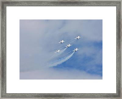 Five High Framed Print by Dave Clark