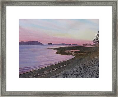 Framed Print featuring the painting Five Islands - Bay Of Fundy by Joel Deutsch