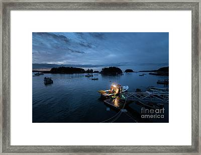 Five Islands Blue Hour Framed Print by Benjamin Williamson