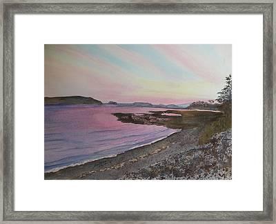Framed Print featuring the painting Five Islands - Draft IIi by Joel Deutsch