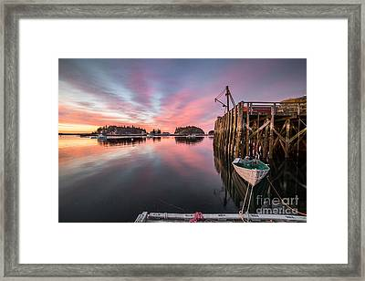Five Islands Sunrise Reflections Framed Print by Benjamin Williamson