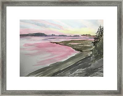 Five Islands - Watercolor Sketch  Framed Print