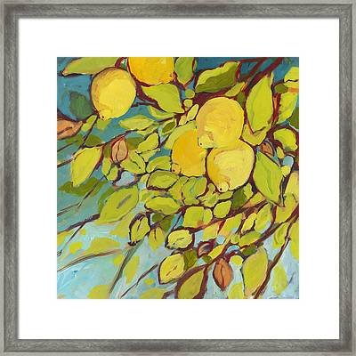 Five Lemons Framed Print by Jennifer Lommers