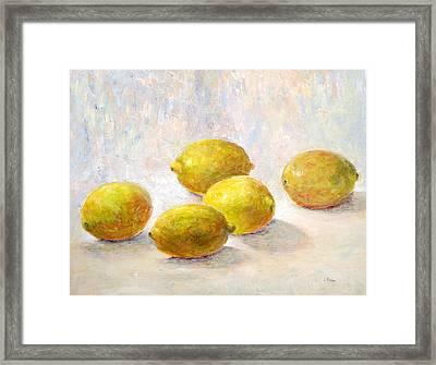 Five Lemons Framed Print