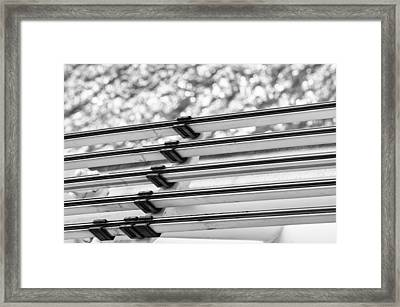 Framed Print featuring the photograph Five Lines Over The Deep by Christi Kraft