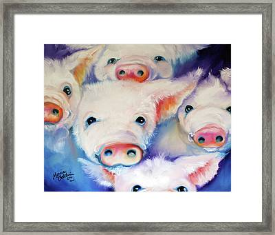 Five Little Squeals Framed Print