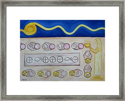 Five Loaves And Two Fish Framed Print