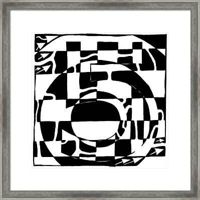 Five Maze Framed Print by Yonatan Frimer Maze Artist
