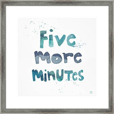 Five More Minutes Framed Print by Linda Woods