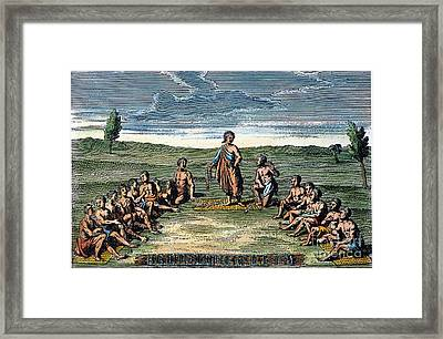 Five Nations: Meeting, C1570 Framed Print by Granger