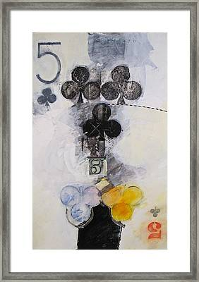 Five Of Clubs 18-52 Framed Print