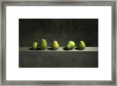 Five Pears Framed Print