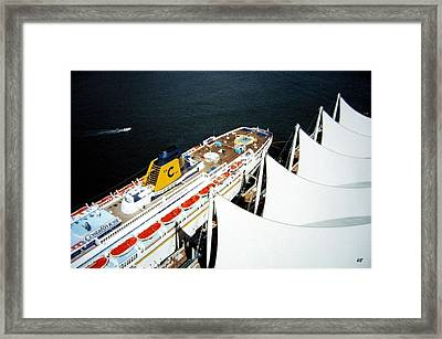 Five Sails And A Ship Framed Print by Will Borden