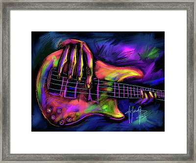 Five String Bass Framed Print