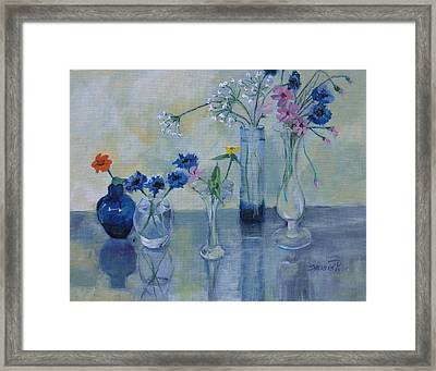 Five Vases Framed Print