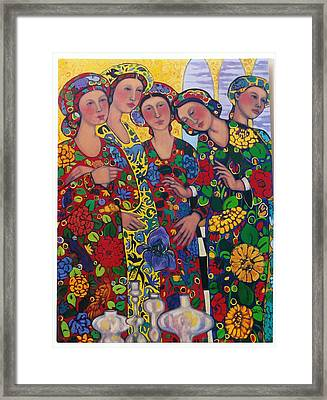 Five Women And The Iris Framed Print by Marilene Sawaf