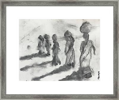 Five Women Immigrants Framed Print