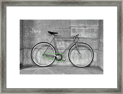 Fixed Gear Bicycle Framed Print by Dutourdumonde Photography