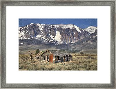 Fixer Upper With A View Framed Print by Donna Kennedy