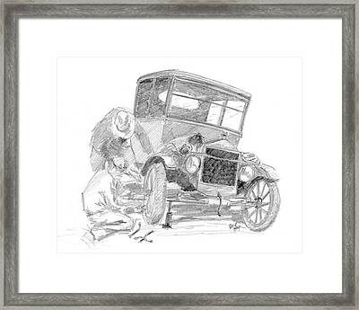 Fixin' The T Framed Print