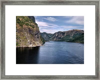 Fjord Framed Print by Jim Hill