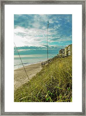 St Aug Beach Framed Print