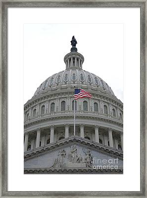 Flag And Dome Framed Print