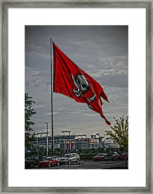 Flag And Stadium Framed Print by Chauncy Holmes