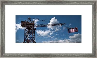 Flag Bearer Framed Print
