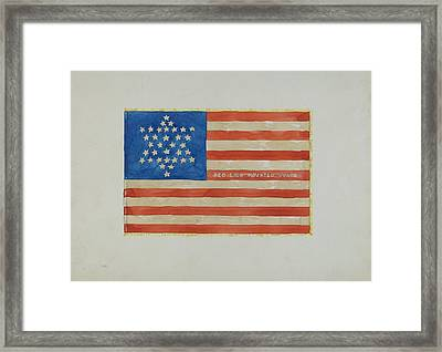 Flag - Civil War Framed Print