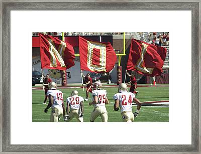 Flag Football Framed Print by Allen Simmons