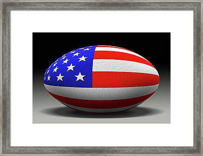 Flag Football Framed Print by Mike McGlothlen