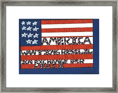 Flag Four Framed Print by Darrell Black
