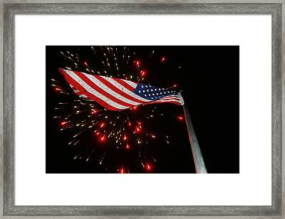 Flag In All Its Fiery Glory Framed Print by Shirley Heier