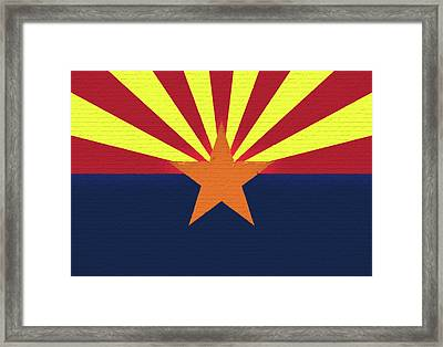 Flag Of Arizona Wall Framed Print