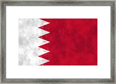 Flag Of Bahrain Framed Print by World Art Prints And Designs