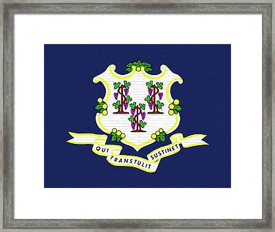 Flag Of Connecticut Wall. Framed Print