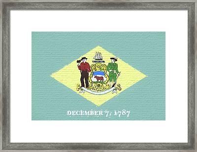 Flag Of Delaware Wall. Framed Print