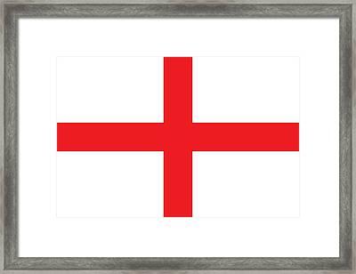 Flag Of England Framed Print by English School