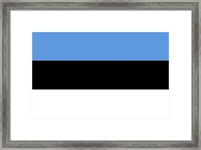 Flag Of Estonia Framed Print by Roy Pedersen